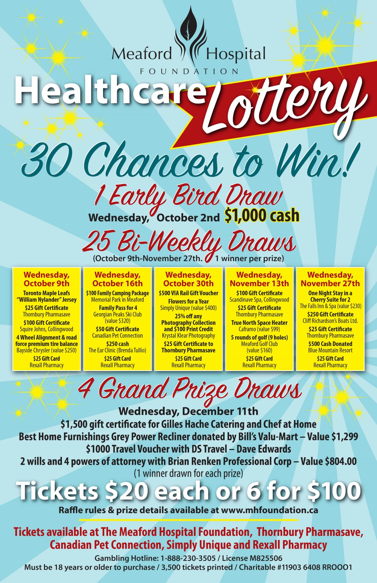 Meaford Hospial Healthcare Lottery